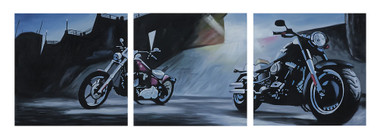 Harley-Davidson Live It Up! Limited Edition Hand Painted Artwork HDP-RA09 - Wisconsin Harley-Davidson