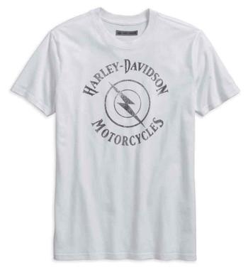 Harley-Davidson Men's Lightning Bolt Slim Fit Short Sleeve Tee Shirt 96155-18VM - Wisconsin Harley-Davidson