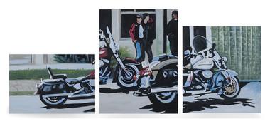 Harley-Davidson Biker Cafe Limited Edition Hand Painted Artwork HDP-RA02 - Wisconsin Harley-Davidson