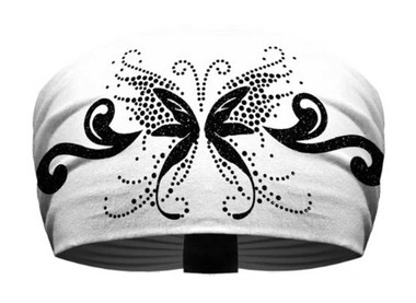 That's A Wrap Women's Rhinestone Accented Angelic Butterfly Knotty Band KB1125B - Wisconsin Harley-Davidson