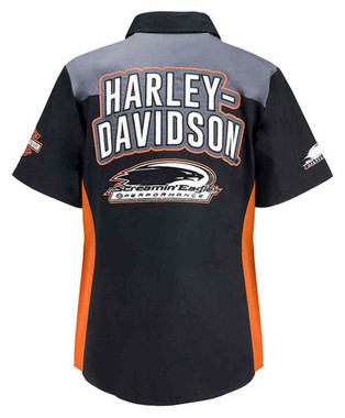Harley-Davidson Women's Screamin' Eagle Colorblocked Momentum Crew HARLLW0013 - Wisconsin Harley-Davidson