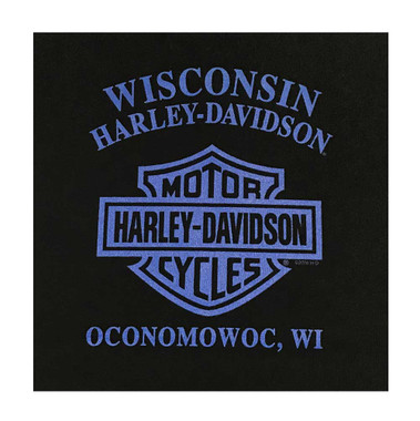 Harley-Davidson Little Boy's Approaching Icon Short Sleeve Crew Tee, Black - Wisconsin Harley-Davidson