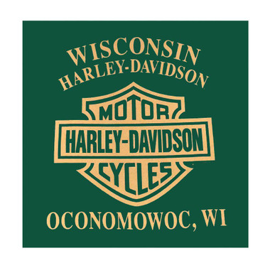 Harley-Davidson Men's Swift Clutch Short Sleeve Crew Neck Tee, Green 5L0H-HF5Y - Wisconsin Harley-Davidson