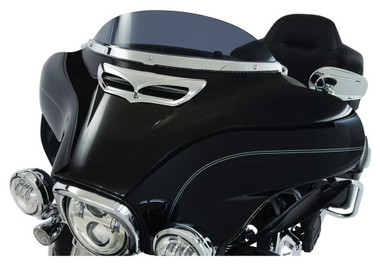 Ciro LED Lighted Windshield Trim, Fits 14-up Harley Touring - Chrome or Black - Wisconsin Harley-Davidson