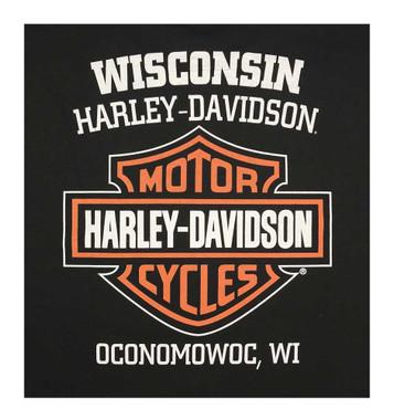 Harley-Davidson Men's Classic Bar & Shield Logo Sleeveless Muscle Tee, Black - Wisconsin Harley-Davidson