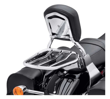 Harley-Davidson Custom Tapered Sport Luggage Rack - Chrome, Multi-Fit 50300030 - Wisconsin Harley-Davidson