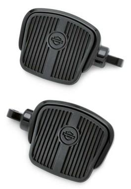 Harley-Davidson Mini Footboard Kit, Large 4.0 inch - Black Finish 50500124 - Wisconsin Harley-Davidson