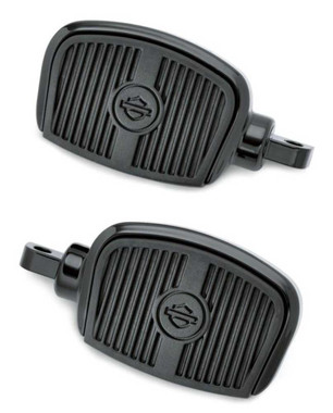 Harley-Davidson Mini Footboard Kit, Small 3.0 inch - Black Finish 50500144 - Wisconsin Harley-Davidson