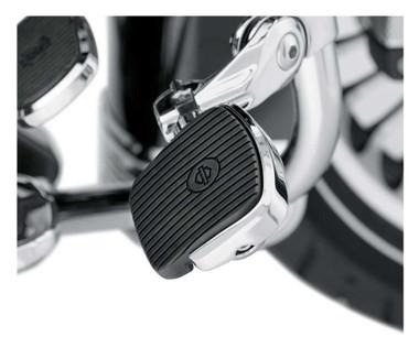 Harley-Davidson Mini Footboard Kit, Large 4.0 inch - Chrome Finish 50500109 - Wisconsin Harley-Davidson