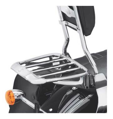 Harley-Davidson Air Foil Premium Luggage Rack - Chrome, Multi-Fit Item 54290-11 - Wisconsin Harley-Davidson