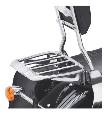 Harley-Davidson Air Foil Premium Luggage Rack - Chrome, Multi-Fit Item 54290-11 - Wisconsin Harley-Davidson
