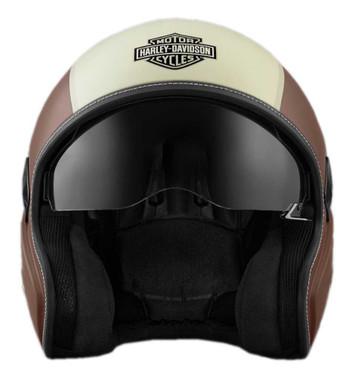 Harley-Davidson Men's Mason's Yard Sun Shield S05 3/4 Helmet, Brown 98177-18VX - Wisconsin Harley-Davidson