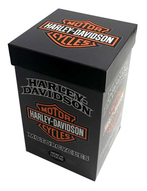Harley-Davidson American Legend Ceramic Travel Cup w/ Silicone Handle & Base - Wisconsin Harley-Davidson