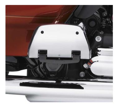 Harley-Davidson Chrome Passenger Footboard Pans, Dyna/Softail/Touring 50752-04 - Wisconsin Harley-Davidson