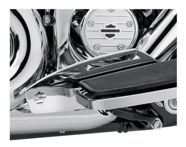 Harley-Davidson Rider Footboard Heel Guard - Chrome, Multi-Fit Item 50500225 - Wisconsin Harley-Davidson
