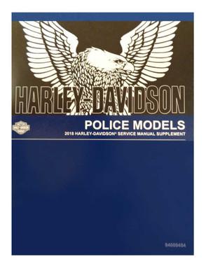 Harley-Davidson 2018 Police Supplement Models Motorcycle Service Manual 94000454 - Wisconsin Harley-Davidson