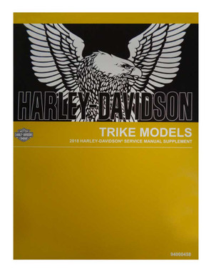 Harley-Davidson 2018 Trike Supplement Models Motorcycle Service Manual 94000458 - Wisconsin Harley-Davidson