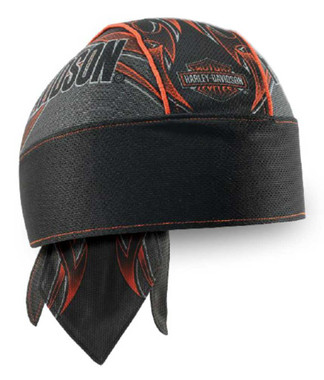Harley-Davidson Men's Tribal Edge Piping Perforated Headwrap, Black HW29364 - Wisconsin Harley-Davidson