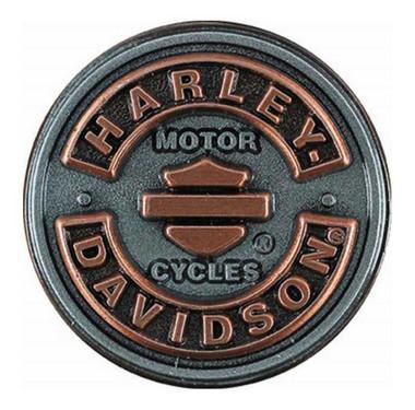 Harley-Davidson Blank B&S Rockers Pin, Antiqued Silver & Copper Finish P297061 - Wisconsin Harley-Davidson