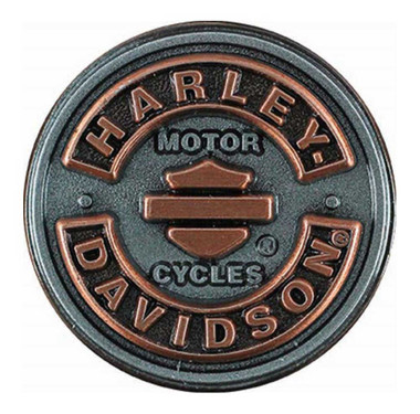 Harley-Davidson Blank B&S Rockers Pin, Antiqued Silver & Copper Finish P297061 - Wisconsin Harley-Davidson