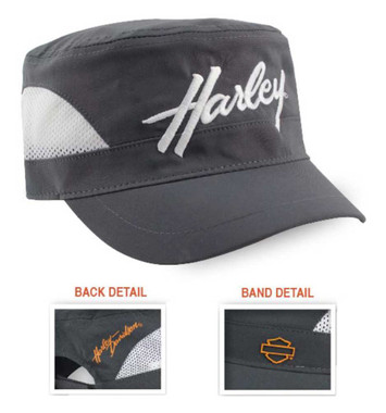 Harley-Davidson Women's Sport H-D Mesh Painter's Cap, Gray & White PC28854 - Wisconsin Harley-Davidson