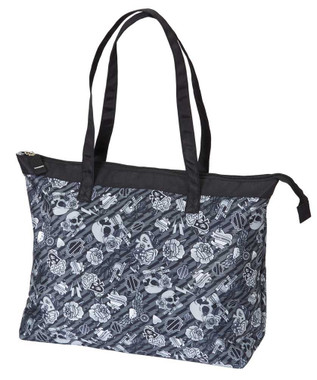 Harley-Davidson Women's Gray Tattoo Light-Weight Shopper Tote 99914-GRAY TATTOO - Wisconsin Harley-Davidson