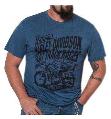Harley-Davidson Men's Speed Racer Premium Short Sleeve T-Shirt, Ensign Blue - Wisconsin Harley-Davidson
