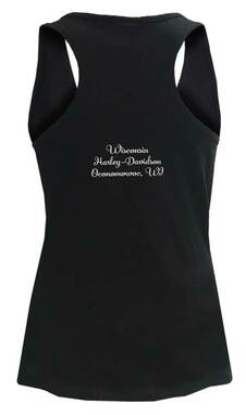 Harley-Davidson Women's Freedom Embellished Premium Sleeveless Tank Top, Black - Wisconsin Harley-Davidson