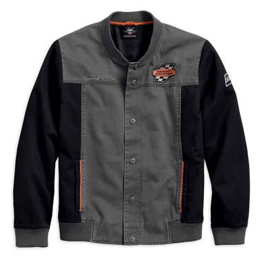 Harley-Davidson Men's Screamin' Eagle Casual Jacket, Gray & Black 97465-18VM - Wisconsin Harley-Davidson
