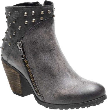 Harley-Davidson Women's Wexford 3.75-Inch Black or Grey Fashion Booties D84125 - Wisconsin Harley-Davidson