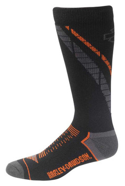 Harley-Davidson Men's B&S Side Cushion Coolmax Riding Socks D99219270-001 - Wisconsin Harley-Davidson