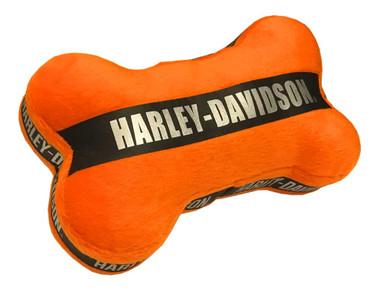 Harley-Davidson Plush Bone Toy w/ Real Engine Sound - 7 in, Orange H8300HK02DOG - Wisconsin Harley-Davidson