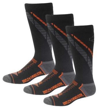 Harley-Davidson Men's Side Cushion Coolmax Riding Socks, 3 Pairs D99219270-001 - Wisconsin Harley-Davidson