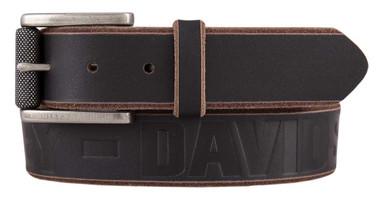 Harley-Davidson Men's Mudslide Genuine Leather Belt, Black & Brown HDMBT11442 - Wisconsin Harley-Davidson