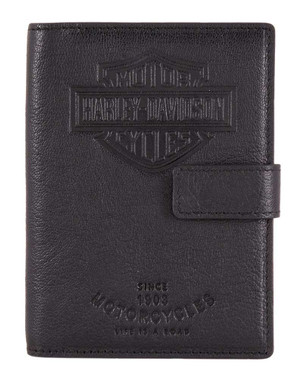 Harley-Davidson Bar & Shield Classic Passport Wallet, Genuine Leather HDMWA11490 - Wisconsin Harley-Davidson