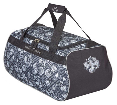 Harley-Davidson Gray Tattoo Sports Duffel Bag w/ Strap 99418-GRAY TATTOO - Wisconsin Harley-Davidson