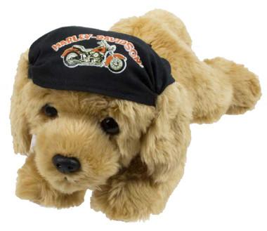Harley-Davidson Freedom 14 in. Retriever Cuddle Bud Dog, Tan & Black 9950857 - Wisconsin Harley-Davidson