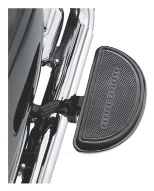 Harley-Davidson Half-Moon Passenger Footboard Pans & Inserts - Black 50810-08 - Wisconsin Harley-Davidson