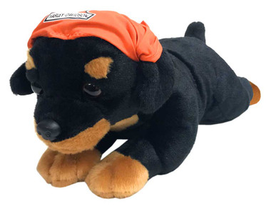 Harley-Davidson Rebel 14 in. Rottweiler Cuddle Bud Dog, Black & Orange 9950853 - Wisconsin Harley-Davidson