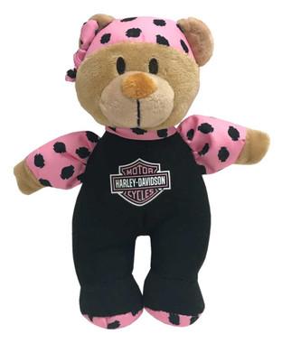 Harley-Davidson Harley Cutie 8in. Shake Rattles & Roll Bear, Black/Pink 9900843 - Wisconsin Harley-Davidson