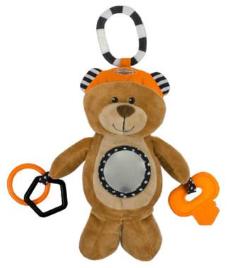 Harley-Davidson Honey Bear 9 in. Newborn Sensory Plush Toy, Brown 9950833 - Wisconsin Harley-Davidson