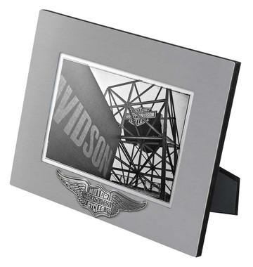 Harley-Davidson Core Winged Bar & Shield Picture Frame - 5x7 Photo HDX-99107 - Wisconsin Harley-Davidson