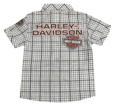 Harley-Davidson Little Boys' Plaid Shirt & Black Denim Pant 2-Piece Set 2071809 - Wisconsin Harley-Davidson
