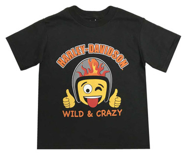 Harley-Davidson Little Boys' Wild & Crazy Emoji Short Sleeve Toddler Tee 1570710 - Wisconsin Harley-Davidson