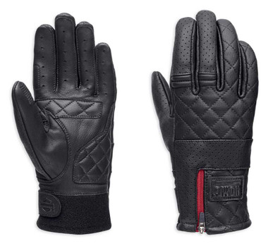 Harley-Davidson Women's Excursion Quilted Leather Full-Finger Gloves 98022-18VW - Wisconsin Harley-Davidson