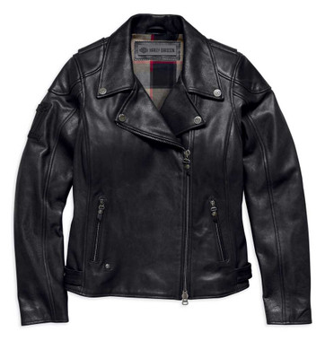 Harley-Davidson Women's Alameda Heavy-Weight Leather Biker Jacket 98019-18VW - Wisconsin Harley-Davidson