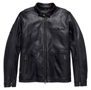 Harley-Davidson Men's #1 Skull Slim Fit Leather Jacket, Black 98018-18VM - Wisconsin Harley-Davidson