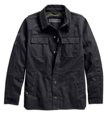 Harley-Davidson Men's Trego Slim Fit Riding Shirt Jacket, Black 98020-18VM - Wisconsin Harley-Davidson
