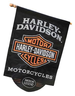 Harley-Davidson American Legend Sculpted Applique House Flag, 28 x 44 in 154900 - Wisconsin Harley-Davidson
