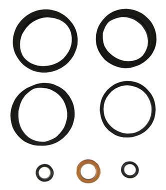 Hawg Halters 4-Piston Brake Caliper Rebuild Kit, Black 1702-0001 - Wisconsin Harley-Davidson